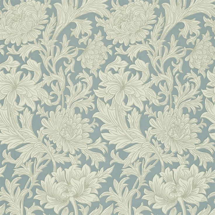 The Original Morris & Co - Arts and crafts, fabrics and wallpaper designs by William Morris & Company   Products   British/UK Fabrics and Wallpapers   Chrysanthemum (DMCW210415)   Compendium II Wallpapers