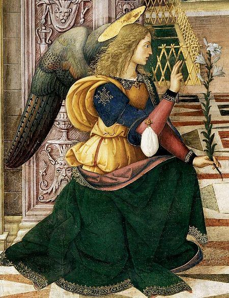 Alfonso von Aragon, illegitimer Sohn des Königs Alfonso II. von Neapel as the Archangel Michael