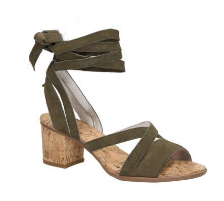 SPM AVOCET CORK SANDAL groene sandalen met hak