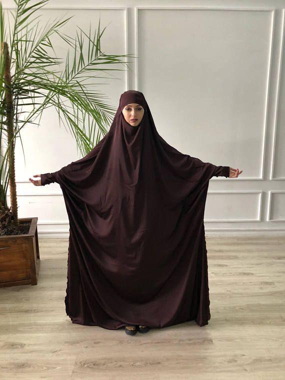 Plus size chocolate silk #jilbab  , muslim #jilbab dress, elegant Burqa, Wedding Abaya, traditional #hijab , Elegant hijab, Long burqa