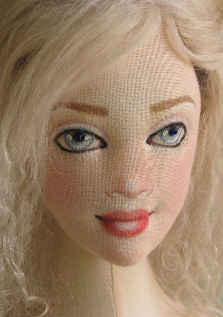 """OOAK Angel 22"""" NWT Lady Art Doll All Cloth Removable Wig BJD Size Gayle Wray 