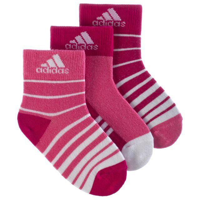 adidas - Stripy Ankle 3 Pack Socks