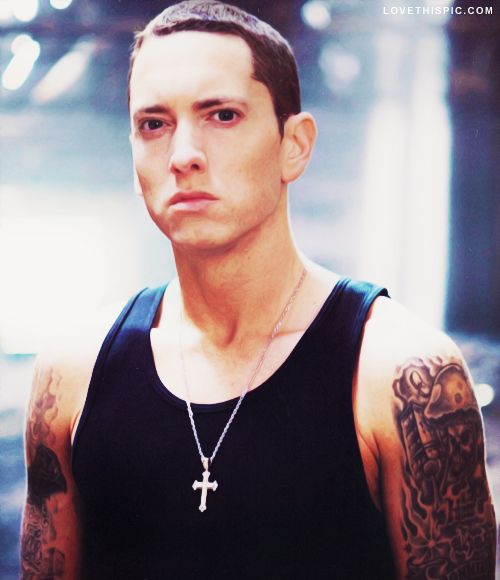 Eminem music music artists rapper rap  Some of his stuff is trash .,,, but some of it is awesome