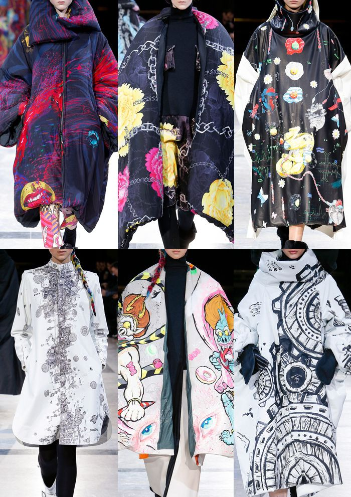 Yohji Yamamoto Paris Fashion Week – Autumn/Winter 2014/2015 –bold prints and grafitti