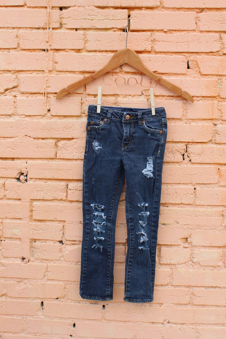 Girls Ripped Jeans 6 Trendy Kids Clothes Edgy Kids Clothes Distressed Jeans Girls Pants Ripped Jeans Toddler Jeans Kids Denim Punk Rock Kids by RunnergirlCreations on Etsy