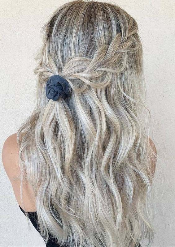 Gorgeous Tied Up Braided Hairstyles For Long Hair In 2019 Long Hair Styles Braided Hairstyles Weave Hairstyles Braided