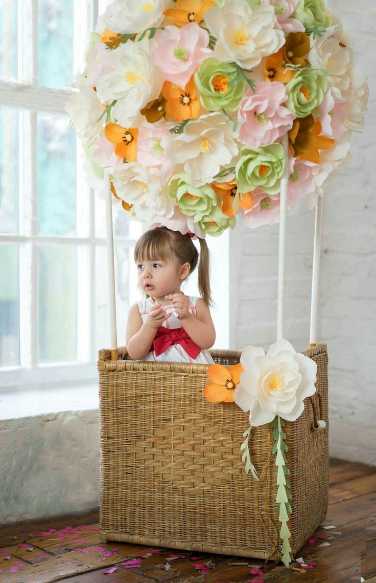 Paper flowers and children