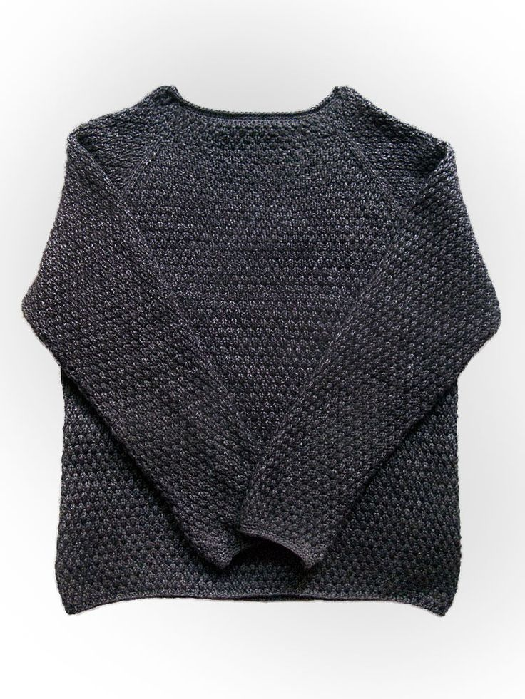 Very crisp man sweater. Free pattern  by Britta Wilfert. Would be especially lovely if extended into a funnel neck.