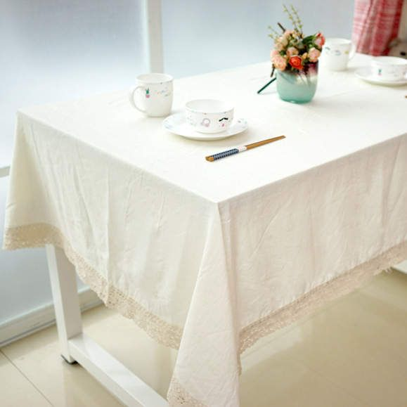 Winlife White Decorative Table Cloth Cotton Linen Lace Tablecloth Dining Table Cover For Kitchen Home Decor White Table Cloth Table Cloth Tablecloth Dining
