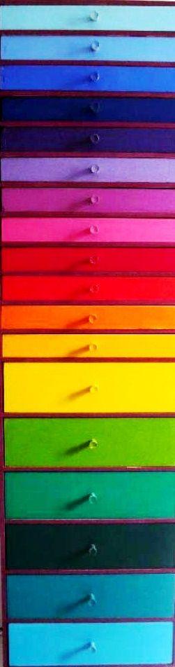 #Rainbow #color #furniture ideas ToniK ❖de l'arc-en-ciel❖❶ Colorful #dresser DIY trucsetdeco.com