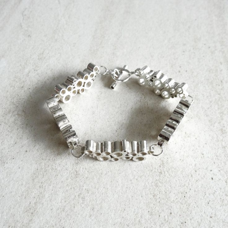 BRACELET Sterling Silver, Contemporary Jewellery, Geometric Jewelry, Minimalist Design, Celebration Mood Collection by AnaBragancaJewellery on Etsy