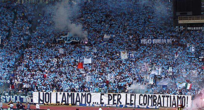 #Coreografia dei tifosi laziali in @officialsslazio-@SassuoloUS durante il campionato di calcio @SerieA_TIM 2014-2015