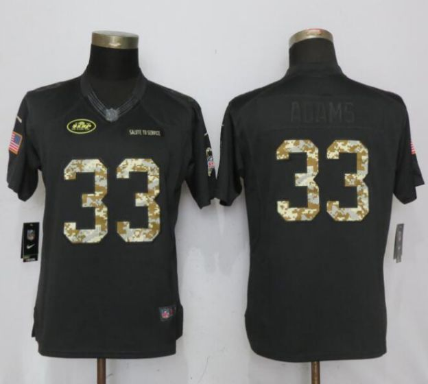 2be8c7515 ... clearance 2017 nfl women nike new york jets 33 adams anthracite salute  to service limited jersey