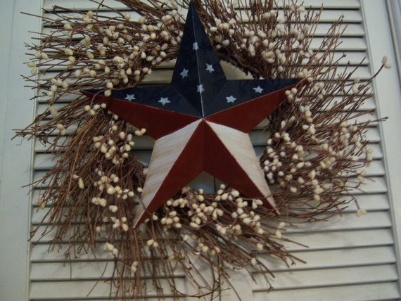 Easy To Make Patriotic Front Door Wreath Memorial Day Wreaths 4th Of July Wreath Memorial Day
