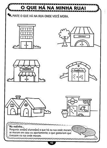 Resultado de imagem para atividades sobre bairros 1 ano questionario o que tem no meu bairro