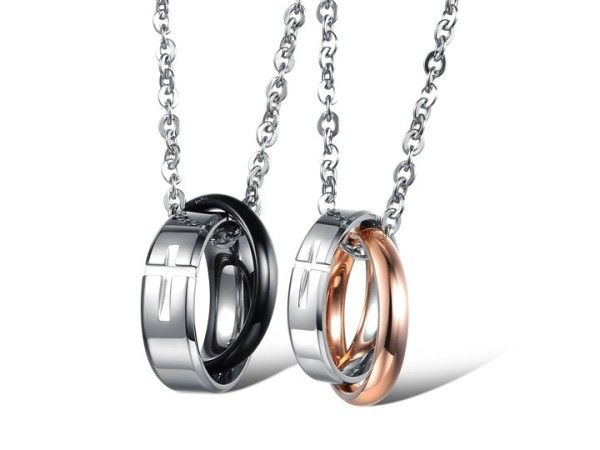 $18,77 Exclusive pair stainless steel pendant + necklace pairing for lovers. Exclusive pairing stainless steel pendant + necklace combination for lovers. BEST PRICE: Directly in the jewelry factory. VAT-free shopping: Available, partners based in the European Union, only applies to EU tax identification number (UID). Exclusive design pairing stainless steel pendant & necklaces for couples and lovers.