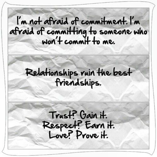 why am i afraid to commit to a relationship