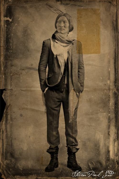 1800s hipster GQ NDN series by Steven Paul Judd: