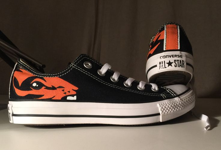 Hand Painted Oregon State Beavers Shoes by AshliPopeDesigns on Etsy https://www.etsy.com/listing/236974670/hand-painted-oregon-state-beavers-shoes