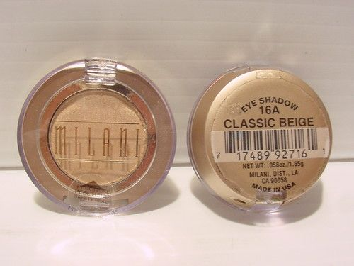Milani Powder Eyeshadow In 16A Classic Beige (Dupe For Mac Nylon)