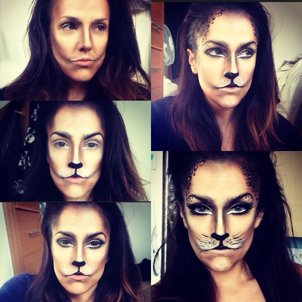 Step by step catwoman makeup