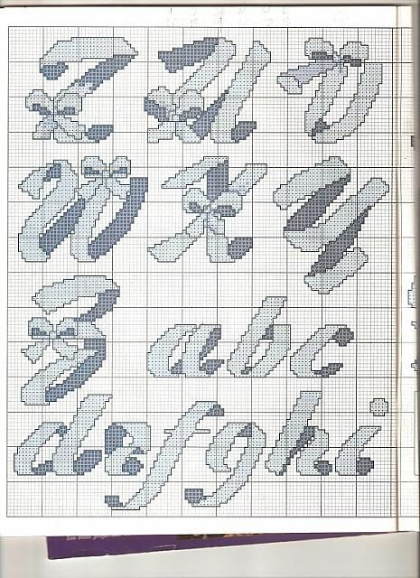 alfabeto con fiocchi2 - magiedifilo.it punto croce uncinetto schemi gratis hobby creativi