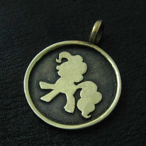 Bronze Pinkie Pie pendant by TheSunkenCity on Etsy