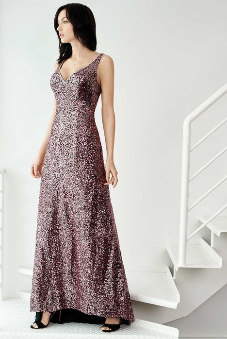 5262L dress (Slim A-Line, V-Neck, Straps,  Sleeveless ) from  Colour by Kenneth Winston 2017, as seen on dressfinder.ca. Click for Similar & for Store Locator.