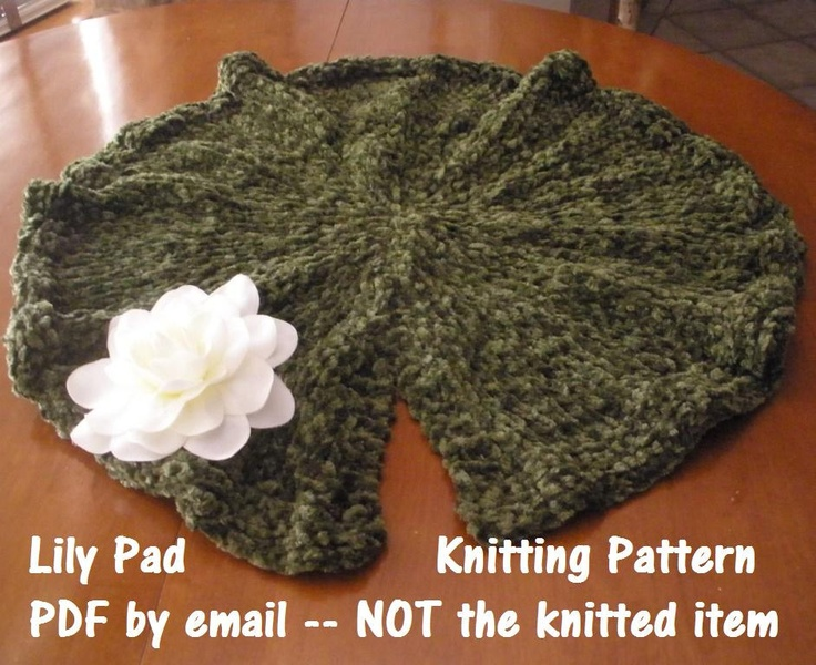 Knitting Patterns For Photography Props : Lily pad photo prop knitting pattern for newborn