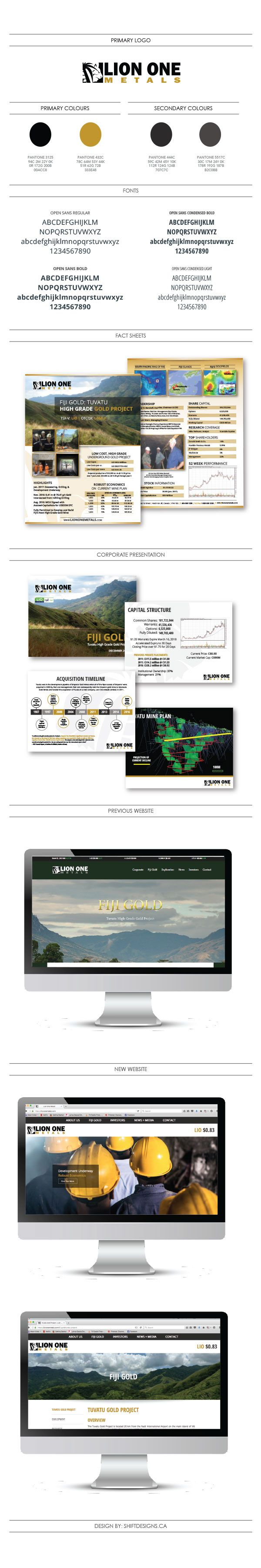 Lion One Metals is a Mining Company located in North Vancouver BC that was in desperate need of a Brand Overhaul. Over the course of 6 months, I re-designed their Website, Marketing Materials and Email Newsletter. I'm very proud of the results. Read on