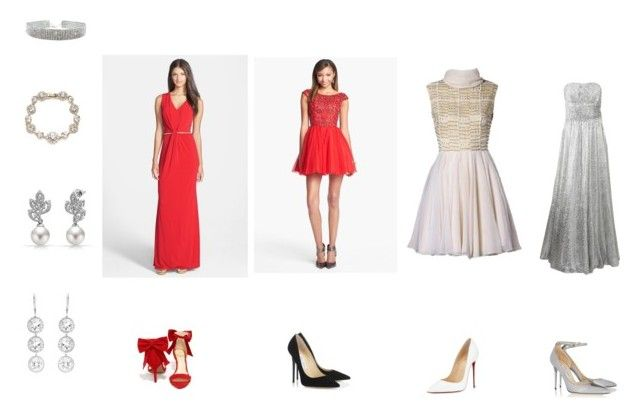 """""""2016 Annual Golden Key VA Ball, Thursday, May 19, 7pm - Women's"""" by evejo on Polyvore featuring Laundry by Shelli Segal, Sherri Hill, Bling Jewelry, Michael Kors, Andrea Fohrman, Jessica Simpson, Jimmy Choo, Christian Louboutin and Marchesa"""