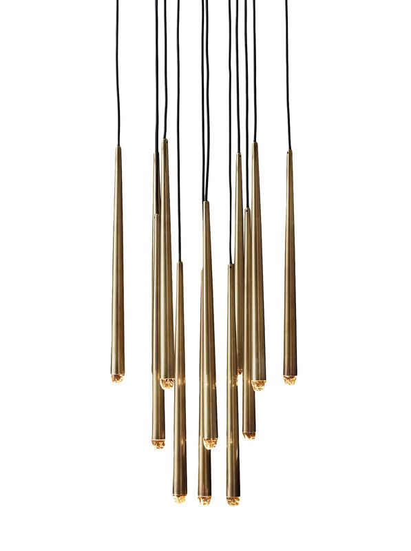 restoration hardware modern gold chandelier pendant burgess in house