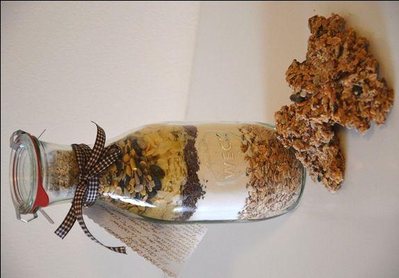 Selbstgemachte Knäckebrot Backmischung im Glas