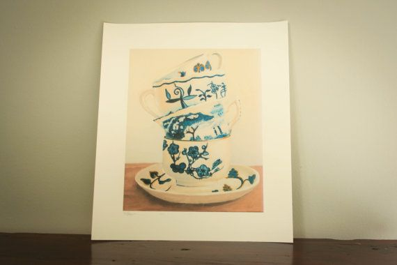 Blue cups still life by LikaHorn on Etsy