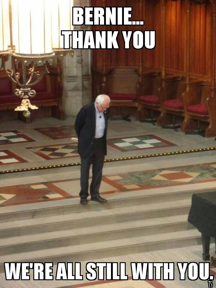 StillSanders:  He accomplished more than we ever thought possible.  Maybe now he can take on the senate.