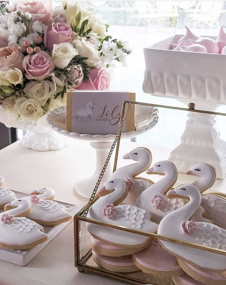 Pink Swan Baby Shower Dessert Table Swan Baby Shower Baby Shower Dessert Table Baby Shower Princess