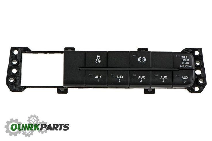 13 DODGE RAM 2500 DIESEL SWITCH PANEL WITH STABILITY CONTROL EXHAUST BRAKE MOPAR #MOPAR