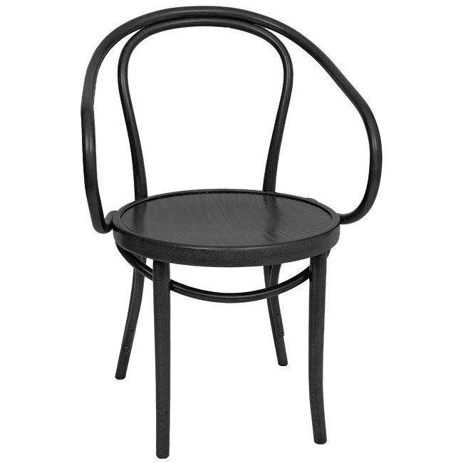 Bentwood B9 Michael Thonet Designed Chair - Black. A timeless, classic original bentwood chair. Often used in the designs of the well-known and respected French architect Le Corbusier. Available online at www.jmh.furniture   Delivery Australia Wide