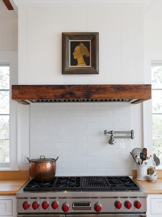 Love this cooker hood concealed in wood