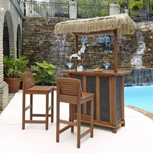 Home Styles Bali Hai Outdoor Tiki Patio Bar Table With Woven Panels 5662 98  At