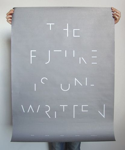 The future is unwritten.