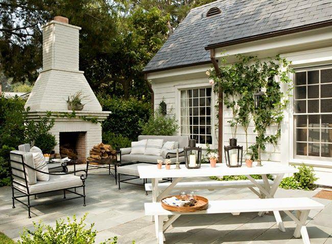Outdoor fireplace - My Santa Monica Dream House // Architect: Tim Barber Designer: Kristen Panitch