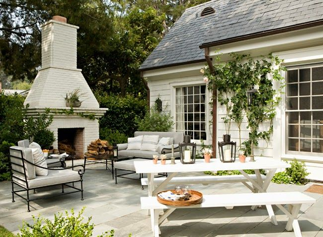 Outdoor fireplace - My Santa Monica Dream House // Architect: Tim Barber Designer: Kristen Panitch