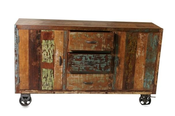 industrial sideboard aus altem holz industrial chic