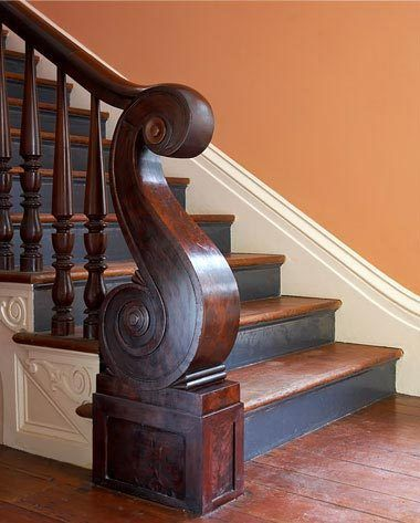 .: Dreams Houses, Charleston Sc, Wood Finish, Banister, Gil Schafer, Newel Posts, Beautiful Stairs, Architecture Details, Wood Stairs