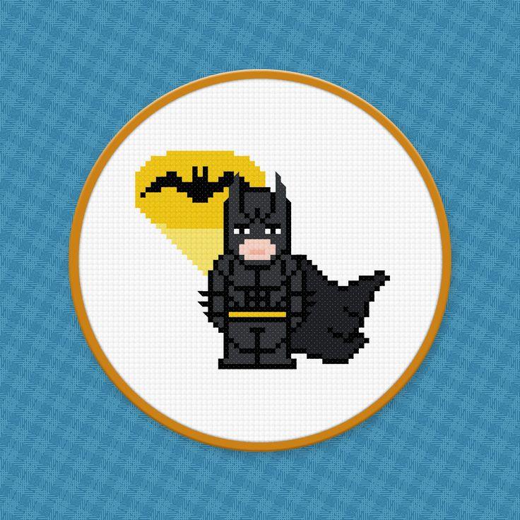 Batman Cross Stitch PDF Pattern Download by pixelpowerdesign, $4.00