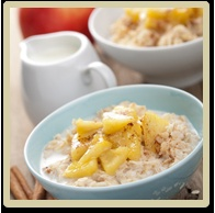 Apple Cobbler Oatmeal.... looks pretty good. for sure will make this