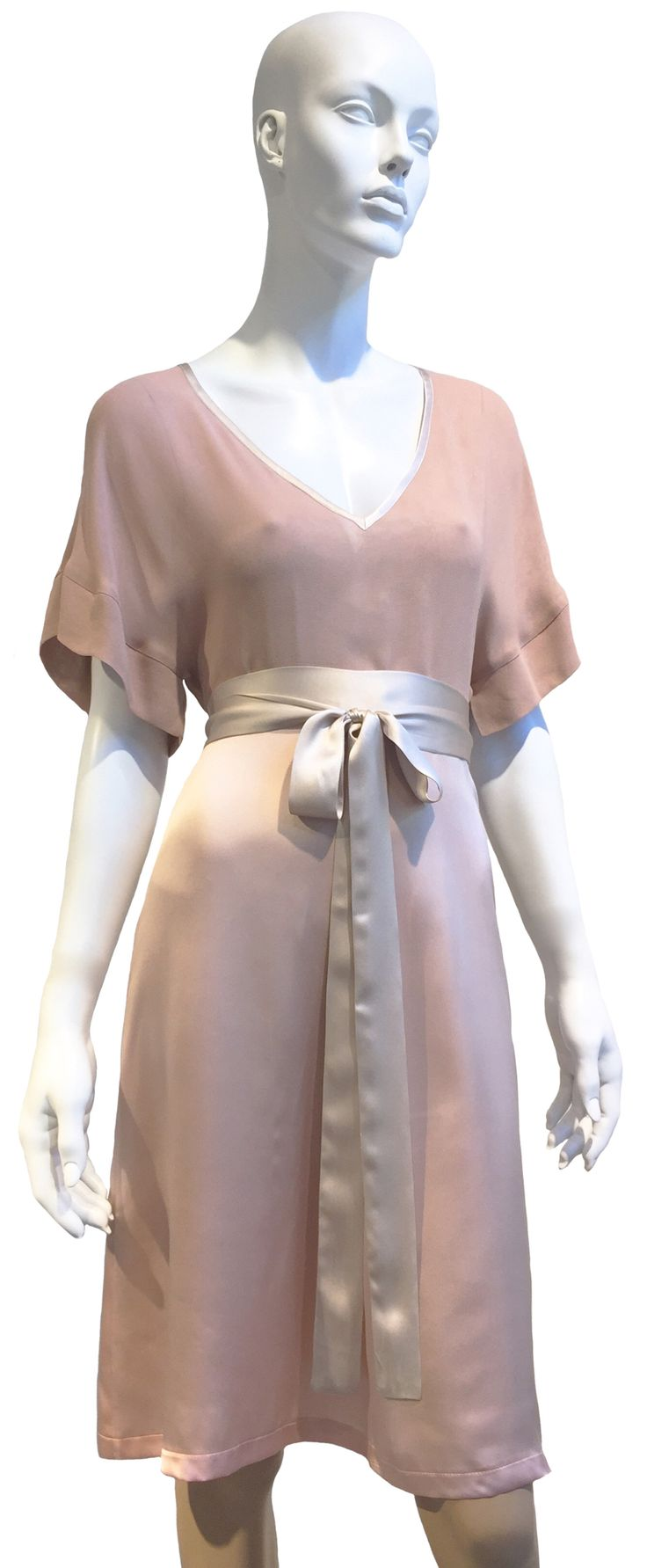 Summer Love silk dress in misty rose from Mette Møller SS2015 collection. www.mettemoller.no
