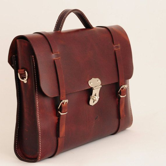 Leather Men Bag Ludena Mens business bag computer bag by Ludena