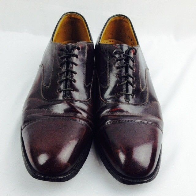 Johnston & Murphy Men's Oxfords Cap Toe Shoes USA Melton Burgundy Size 11D #JohnstonMurphy #Oxfords #mensshoes nsshoes